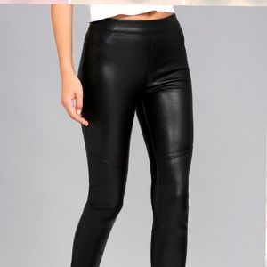 Moto a lack Vegan Leather Leggings